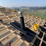 Fortluftauslass am Dach