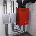 Lüftungsanlage inkl. Schalldämpfer. Aussen und Fortluftleitungen Dampfdicht isoliert.