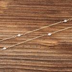 Halskette Gelbgold 750 mit Süsswasserperlen, 620.-