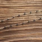 """VERKAUFT Halskette """"Kosmos"""" Gelbgold 750 mit schwarzen Diamanten (kann auf Wunsch nachbestellt werden)"""
