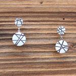 VERKAUFT Ohrstecker Silber 925 mit geschwärztem Muster