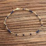 Armband Gelbgold 750 mit Saphiren, 380.-