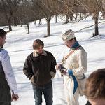 Regisseur Stefan Rothbart mit Historiker Wolfgang Horak - Foto Chris Plach