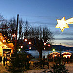 Weihnachtsmarkt mit idyllischem Ambiente ohne Hektik u. Streß