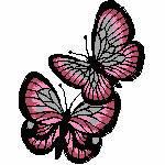 2 Schmetterlinge rot, 88x 114 mm, 11470 Stiche, auch z.b. in blau möglich