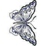Schmetterlinge groß, 108x180 mm, nicht gefüllt, andere Farben der Stickerei möglich