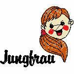 Jungfrau kindlich, 100x84 mm, 4314 Stiche,24.8.-23.9.,