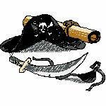 Piratenhut, 97x70 mm, 7953 Stiche