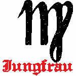 Jungfrau Zeichen, 93x99 mm, 5835 Stiche, 24.8.-23.9., andere Farben möglich