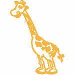 Giraffe, 119x164 mm, 6963 Stiche, nicht ausgefüllt, auf helle Farbe empfohlen