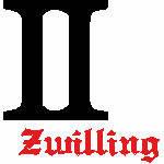 Zwilling Zeichen, 94x98 mm, 6084 Stiche, 21.5-21.6., andere Farben möglich