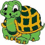 Schildkröte , 90x90 mm, 6866 Stiche