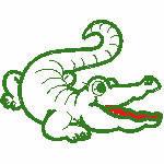 Krokodiel, 152x116 mm, 3964 Stiche,  nicht ausgefüllt, auf helle Farbe empfohlen