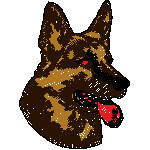 Schäferhund Kopf, 75x99 mm, 6678 Stiche