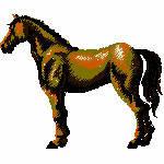 Pferd 2, 95x79 mm, 8717 Stiche