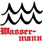Wassermann Zeichen, 99x92 mm, 6564 Stiche, 21.1.-19.2.,  andere Farben möglich