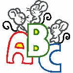 ABC Mäase, 127x135 mm, 5801 Stiche,  nicht ausgefüllt, auf helle Farbe empfohlen