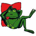 Frosch auf Kissen, 99x88 mm, 8589 Stiche