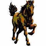 Pferd im Galopp, 60x99 mm, 8080 Stiche