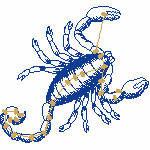 Skorpion ungefüllt, 99x92 mm, 4120 Stiche, 24.10.-22.11.,  andere Farben möglich
