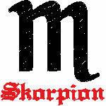 Skorpion Zeichen, 99x99 mm, 7087 Stiche, 24.10.-22.11., andere Farben möglich