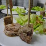 assortiment de pâtés de chevreuils, lièvres et faisans