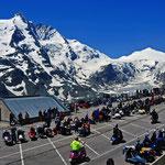 Blick auf den obersten Parkplatz