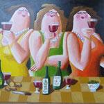 dikke vrouwen (60x80 cm)