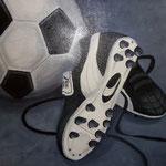 voetbalschoen verkocht (60x80 cm)
