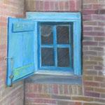 oud raam pastel 30x40