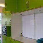 Seite der Küche