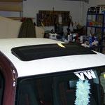 VW Golf IV Dach mit Straußenleder (Kunstleder) bezogen
