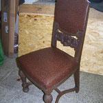 historischer Hochpolsterstuhl komplett restauriert