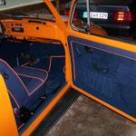 VW Käfer Leder / Alcantara mit farbigem Keder