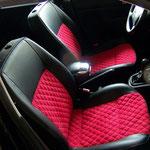 VW Golf IV Leder/Alcantara mit abgesteppten Rauten