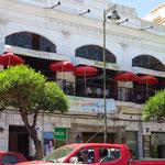 Restaurant Plaza in Sucre, wo wir unser Abendessen eingenommen haben