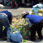 Markt von Tacna, Gemüseabfälle
