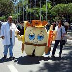 Demonstration für die Gesundheitvorsorge der Kinder