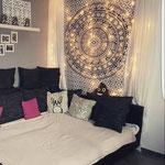 Wandtuch Dekoration im Wohnzimmer