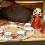 Engel, Adventkranz aus Keramik (Symbolfoto)