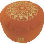"""Ur-Mandala Variation"" Designer Meditationskissen Gr.M terracotta"