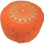 """Ur-Mandala Variation"" Designer Meditationskissen Gr.M orange"
