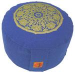 """Lotus Kreis"" jeansblau  Designer Meditationskissen Gr.M"