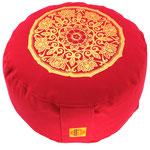 """""""Lotus Kreis"""" rot  Designer Meditationskissen Gr.M"""