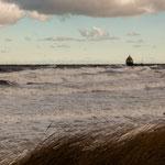 1. Januar 2019 Ostsee Darss, Sturm Zeetje