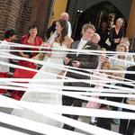 Hochzeitfotografie, nach der Kirche