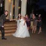 Hochzeitfotografie, Portrait-Gruppenfoto-Trauzeugen