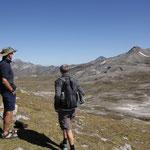 Wir wandern kurz den Alpenhauptkamm entlang...
