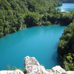 Auch von oben sind die Plitvice Seen wunderschön