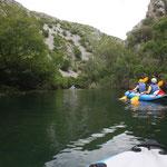 Auf Winnetous Spuren paddeln wir auf dem Zrmanja Fluss